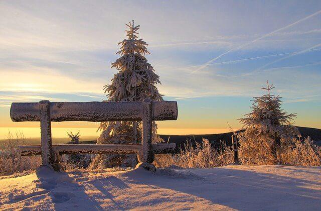 Lyžařské krajina v Erzgebirge