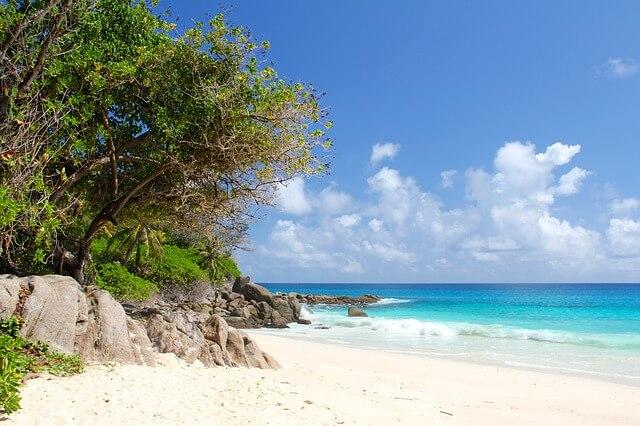 Pláž na Seychely