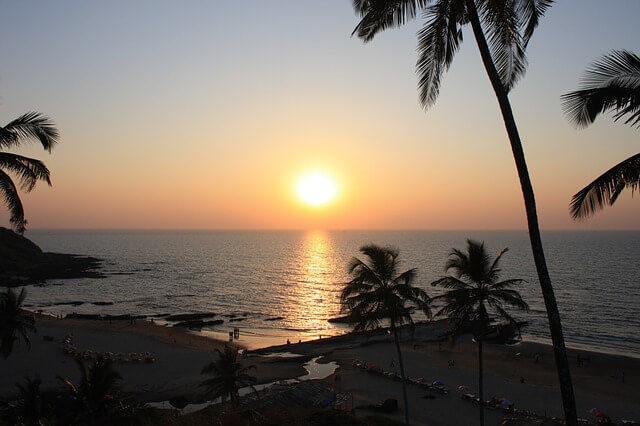Západ slunce v Indii
