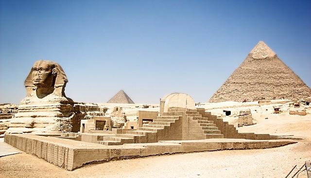 Sfinga v Egyptě